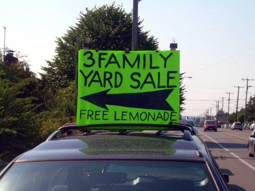3 Family Yard Sale