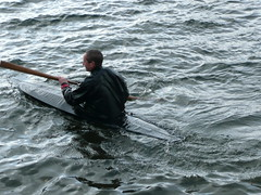 Richard in the recovery kayak