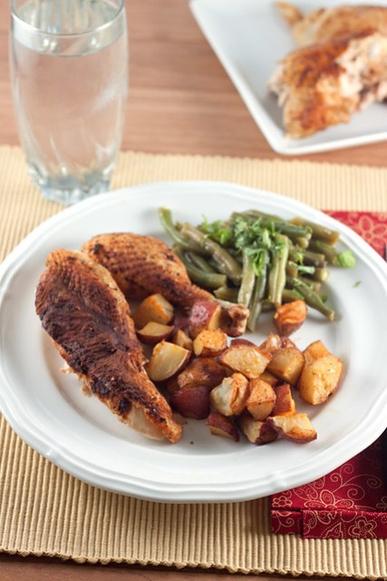 Chili-Roasted Chicken and Potatoes
