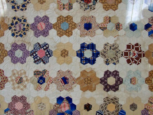 Patchwork quilt made during the Irish Famine