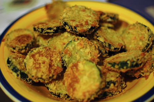 Oven Fried Courgette Rounds