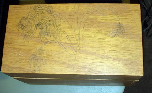 Drawing The Palm Trees On To Wood Burn