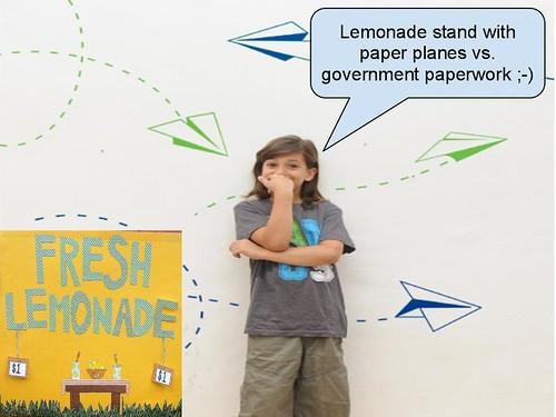 Lemonade paper planes