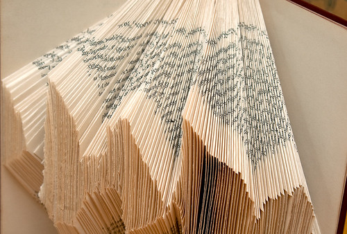 Altered Books: Experimenting with irregular folded pages - detail