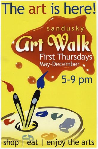 sandusky art walk flyer