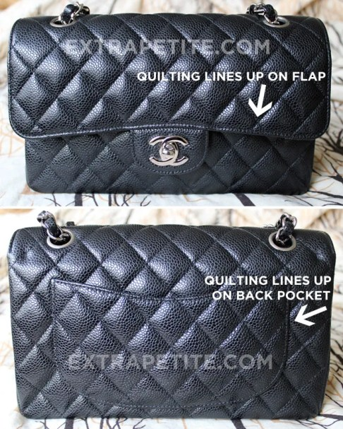 69a743bb2c62 Always check if the quilt stitching on flap and pocket match the body. On  an authentic Chanel, the quilt stitching should line up neatly on the front  flap ...