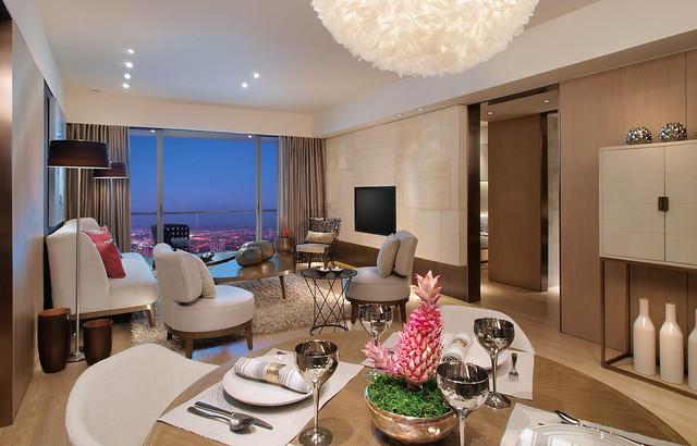 One Shangri-La Place Show Suite living-room