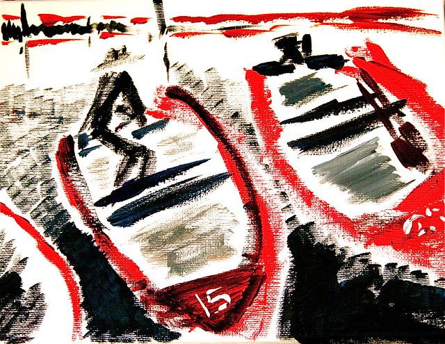 #15: Salmon Slam Painting