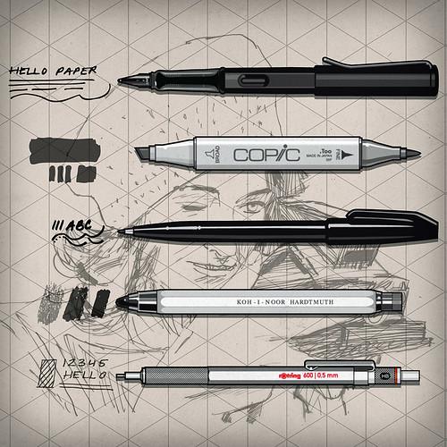 Keep It Simply Sketch KISS Pro Pens
