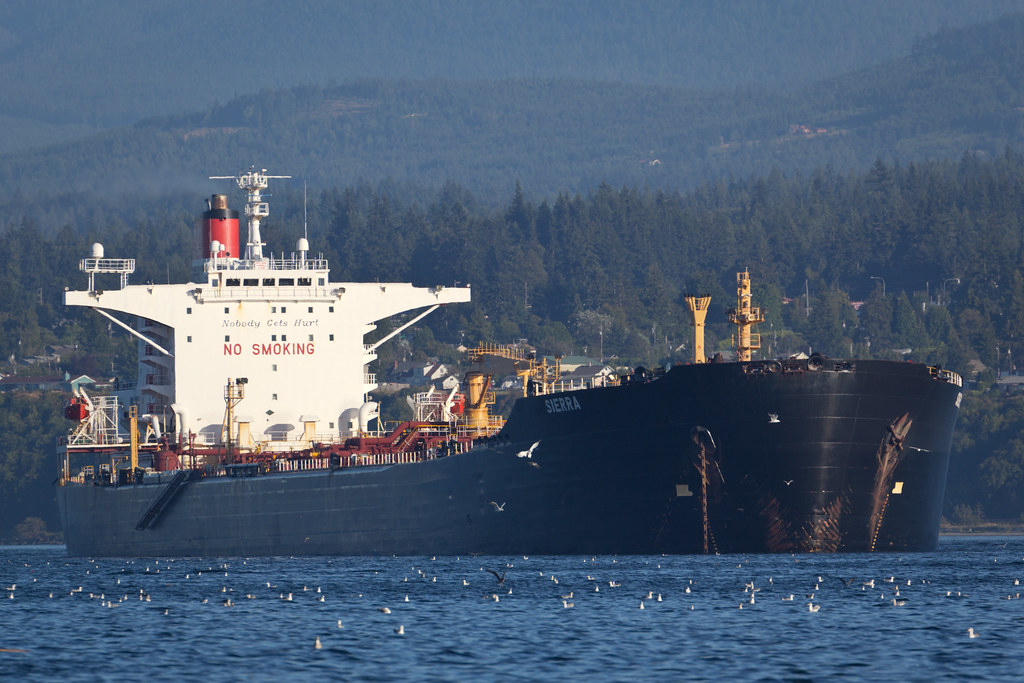 Cargo ship in Port Angeles harbor