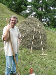 Neil Diment with hay pike