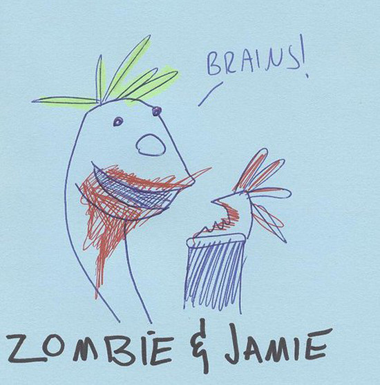Zombie Socky and Jamie