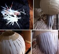 DIY Paper Starburst Pendant Light tutorial