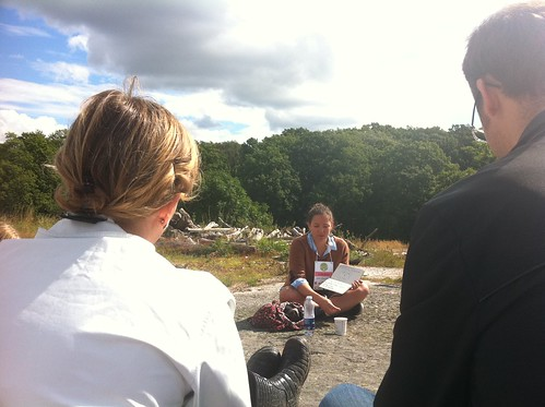 Emilia Blom leder session om kreativa möten på <a rel=