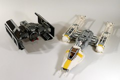 7658 Y-wing and 8017 Darth Vader's TIE Fighter