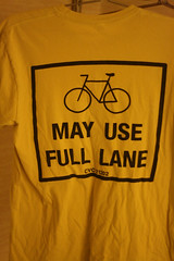 Bikes May Use Full Lane shirt