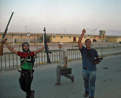 110824 Rebels enter Kadhafi compound  | الثوار...