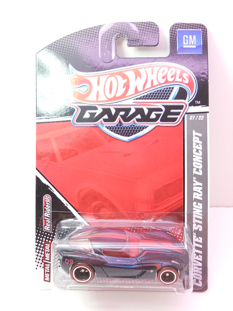 hot wheels garage corvette stingray concept blue (1)