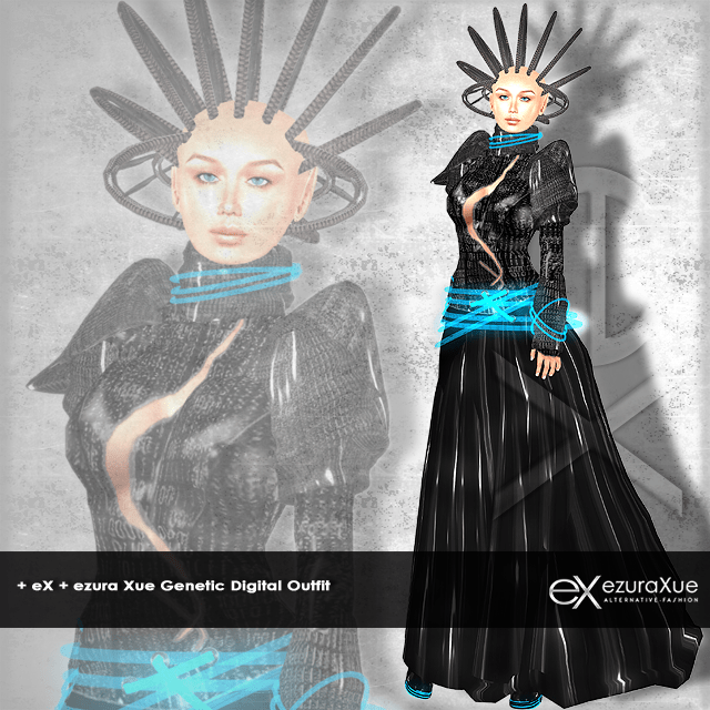 + eX + Genetic Digital Lady Outfit *Black