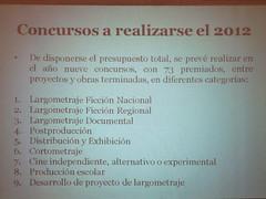 CONACINE - Concursos 2012