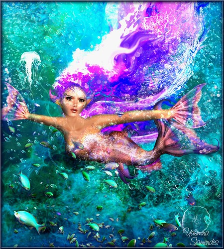 ocean life light woman art luz wet water girl digital photoshop painting hair effects drops agua underwater arte drawing bajo dream deep award best fave sl fantasy secondlife views brushes favourites second jelly faves colourful splash mermaid fishes coloured airbrush pileup fische meerjungfrau fishskin highqualityimages yasminasiamendes