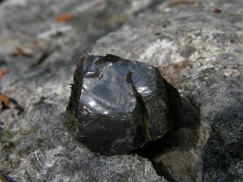 Shiney black stone