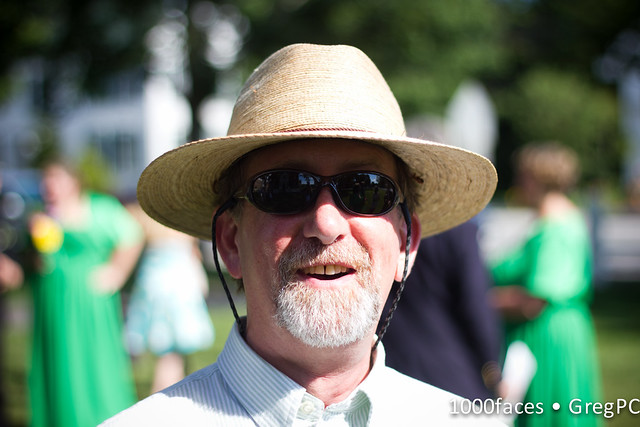 Face - bearded man with hat and sunglasses