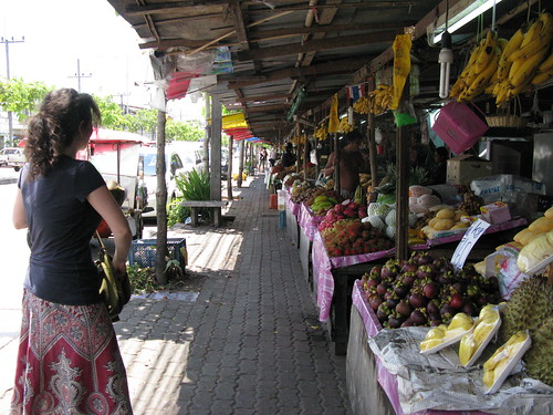 fruit market on the edge of phuket town