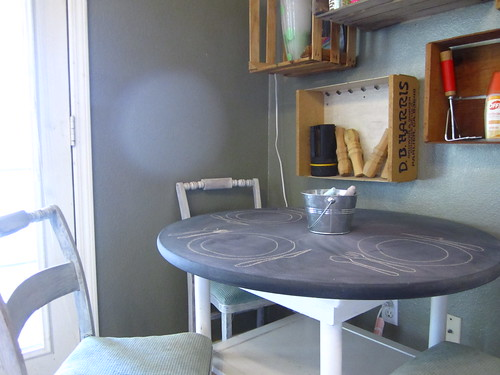 Finished Chalkboard Table 1