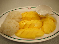 Mango and Sticky Rice Dessert, Somboon Seafood, Surawong