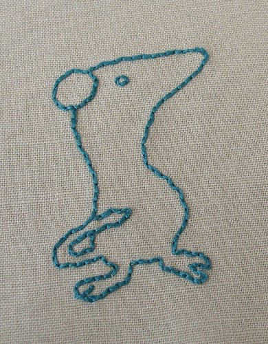 Tom's mouse - my stitching