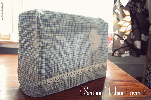 {DIY sewing machine cover}