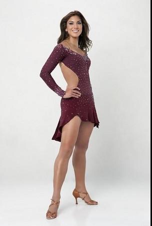 Hope Solo's Great Legs In DWTS Dress by zennie62