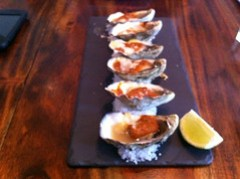 Oyster Kilpatrick at Hippo Creek Subiaco