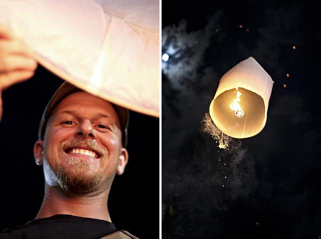 setting a lantern free
