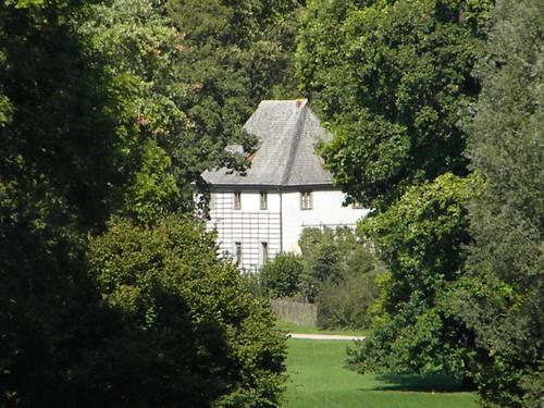 Vista livre da casa Romana para a casa do poeta Goetheh