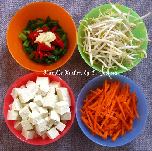 STir-Fry Bean Sprout, Carroct & Tofu (2)