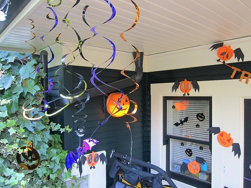Outside Decorations Left of Front Door