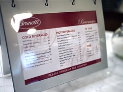 Menu, Brunetti's Singapore, Tanglin Mall