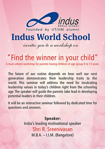 IWS Aurangabad - Find the leader in your child : invite