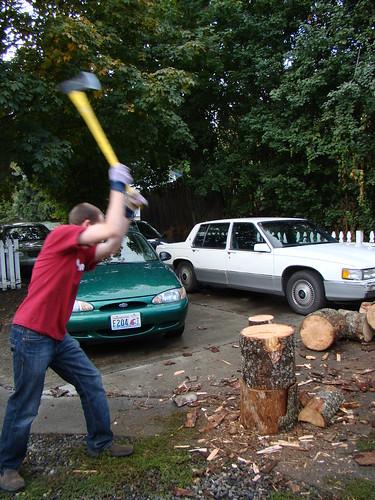 Swinging the axe