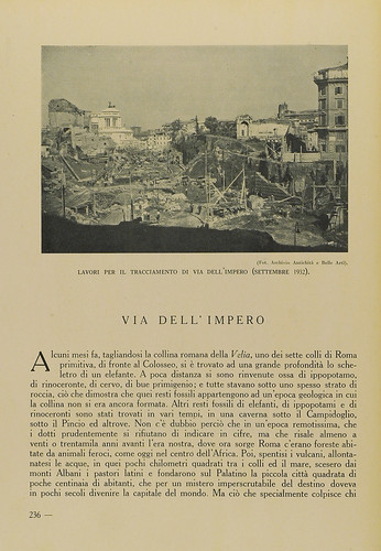 """Rome - The Imperial Fora / Via dell' Impero: """"L' invenzione dei Fori Imperiali - Demolizioni e scavi: 1924-1940 (2008): A. Munoz, Via dell'Impero. EMPORIUM,Vol. LXXVIII, n. 466, (1933), pp. 236-247 [leggi l' articolo / read article]. by Martin G. Conde"""