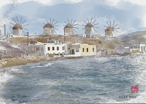 Mykonos Watercolor