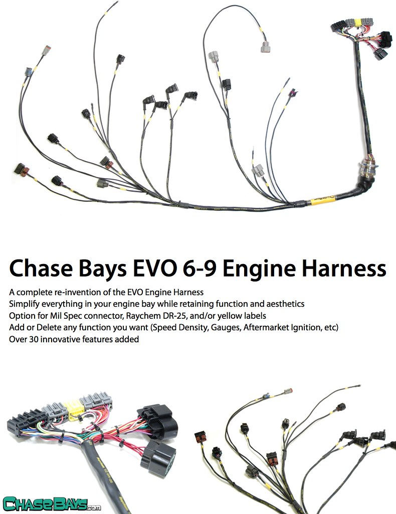 hight resolution of chase bays engine harness assaultech com evolutionm mitsubishi evo 9 wire harness
