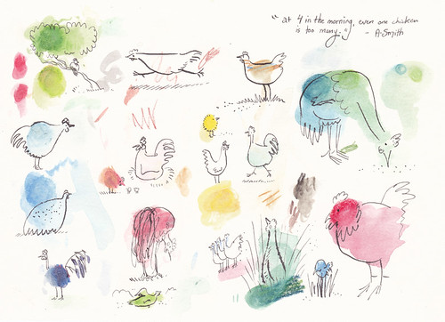 Illustration Friday: Scattered