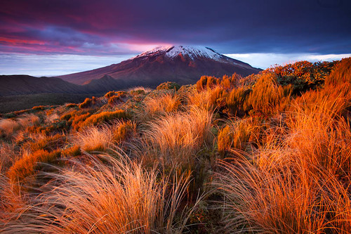 Sunrise Mt Taranaki / Egmont, New Zealand by Todd Sisson (nee Crimson Kiwi)