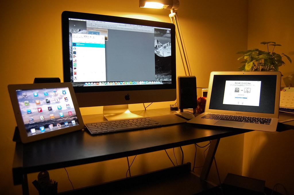 全家福一張(對我沒有iPhone…XD),隔一天iMac就被我爸接收了…至少還是在同一個屋簷下啦(淚目)