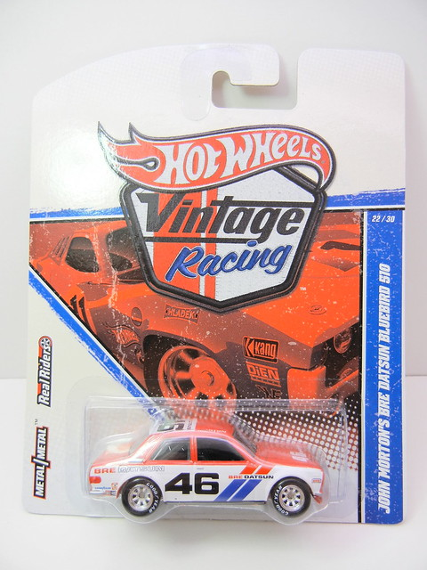 HOT WHEELS VINTAGE RACING JOHN MORTON'S BRE DATSUN BLUEBIRD 510 (1)