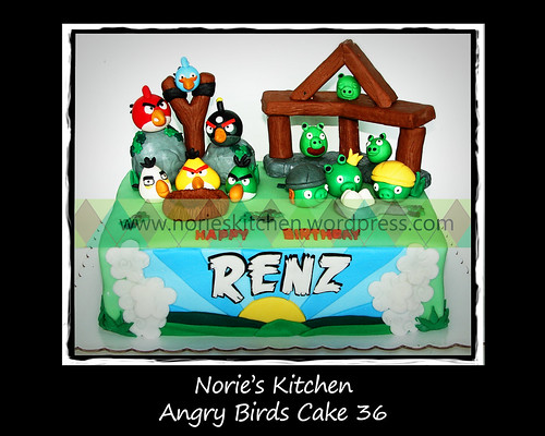 Norie's Kitchen - Angry Birds Cake 36 by Norie's Kitchen
