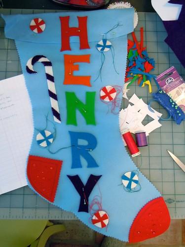 custom stocking in progress